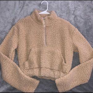 Teddy bear crop top sweater